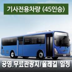 45인승차량 + 전용기사(수고비포함) - 공영.무료관광지/올레길 일정